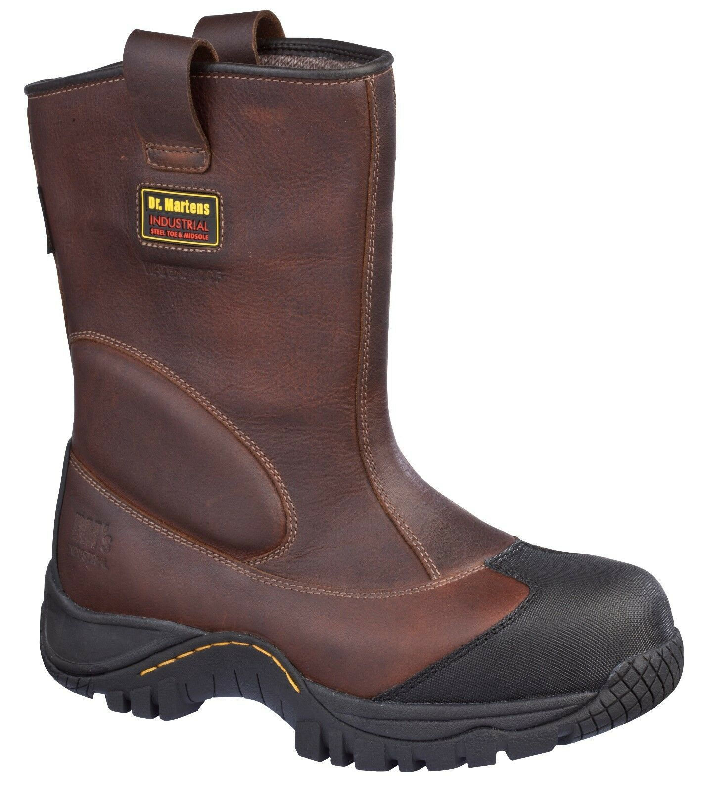 Dr. Martens Arbeitsschuh, Outland robuster Leder Stiefel, braun S3