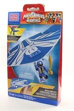 MEGA BLOKS 11 pcs Power Rangers Megaforce SET 5619 Blue Ranger Air Glider! RARE!