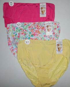 2 Jockey Hip Brief Panty Set 1372 Logo No Line Tactel White Multicolor Flower 9