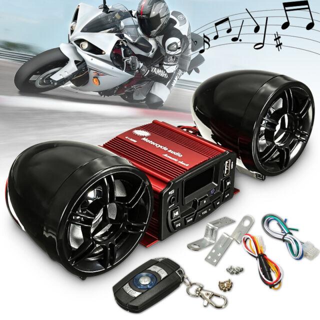 Motorcycle Anti-theft FM Radio MP3 Audio Stereo Sound Speaker Kit Sale