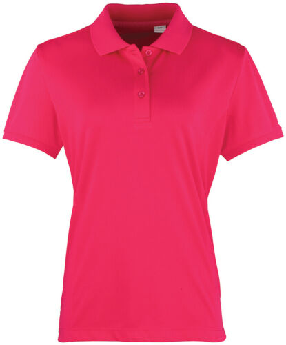 Premier Womens Breathable Smart Fitted Polo Shirt Ladies Quick Dry Work Top New
