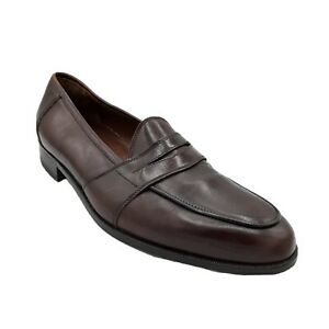 Mens-E-T-Wright-Luciano-Rossini-Collection-Brown-Leather-Dress-Shoes-Size-11-5N