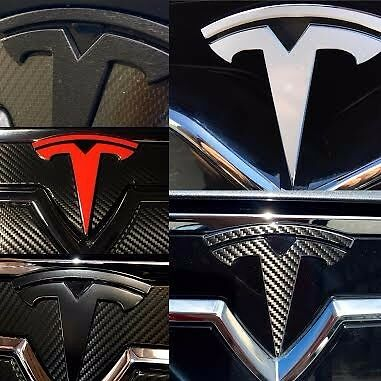 """Nosecone Tesla """"T"""" Logo Accents (Various Colors)"""