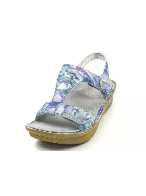 Alegria Leather Sandals Size 38 US 8 8.5 Adjustable Straps Kendra Blue Purple