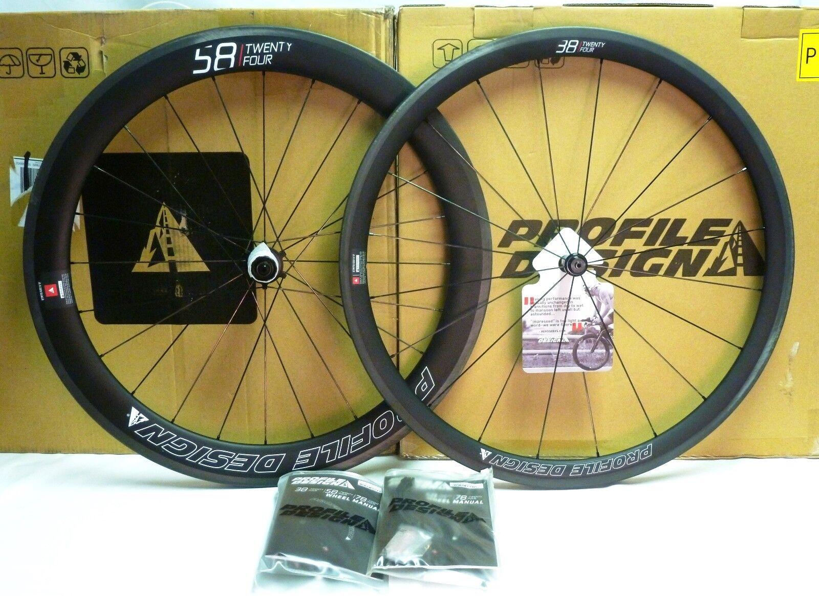Profile Design 58 38 TwentyFour Carbon Clincher Wheelset