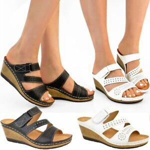 Womens Ladies Low Heel Wedge Comfort