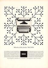 1963 TRIUMPH TYPEWRITERS Full Page Retro German Magazine Ad - Deutsch Werbung