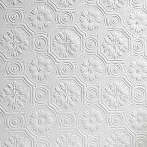 Image Is Loading Flower Paintable Wallpaper Luxury Embossed Textured  Vinyl Spencer
