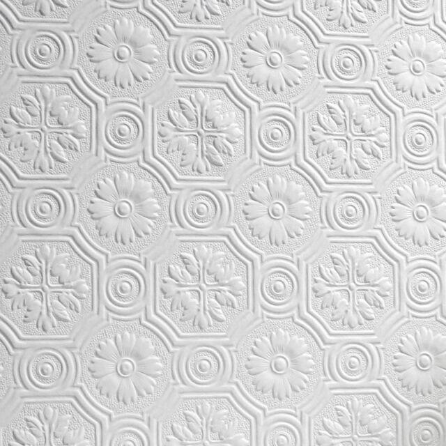Attrayant Flower Paintable Wallpaper Luxury Embossed Textured Vinyl Spencer Anaglypta