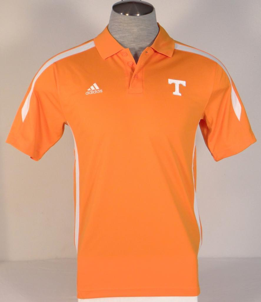 Adidas ClimaLite Collegiate Orange Tennessee Short Sleeve Polo hemd herren NWT