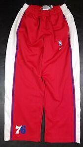 Vtg Philadelphia 76ers 1977 77 NBA Nike Warm Up Shooting Pants Size XL Flaws