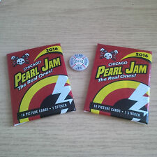 2016 PEARL JAM Bundle - Pin & Card Packs Chicago IL Wrigley Not Poster SOLD OUT!