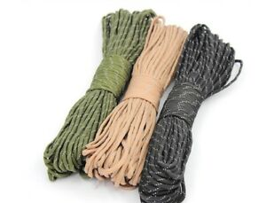 HOT-sell-25-50-100FT-550-Paracord-Rope-7-strand-Parachute-Cord-CAMPING-HiKING