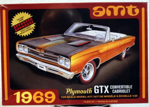 1969 Plymouth GTX Convertible 2´n1 Kit 1:25 AMT 1137 wieder neu 2019 wieder neu