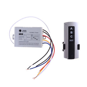 Details About 3 Channel Wireless Remote Control Switch Digital Jc