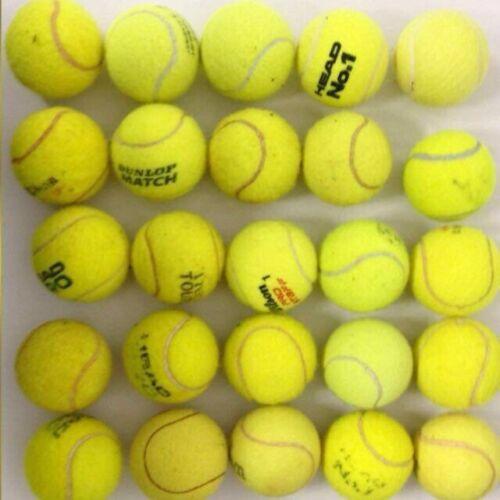 25 gebrauchte Tennisbälle