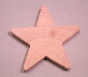2-pc-New-Raw-Unfinished-Wood-Craft-2-1-4-034-Large-Star-Made-in-USA-LOT-OF-TWO