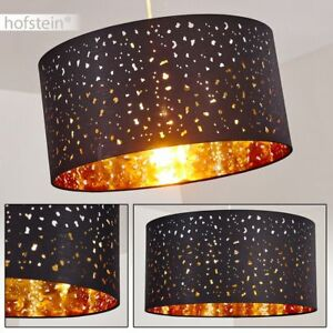 Retro Pendel Hänge Lampen Stoff Schwarz//Gold Ess Wohn Schlaf Zimmer Beleuchtung