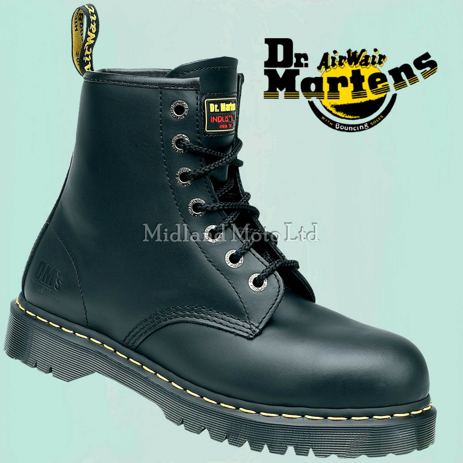 53f58050dac Dr. Martens Icon AirWair Steel Toe Cap Safety Boots 7B10 Doc Martins, New  in Box