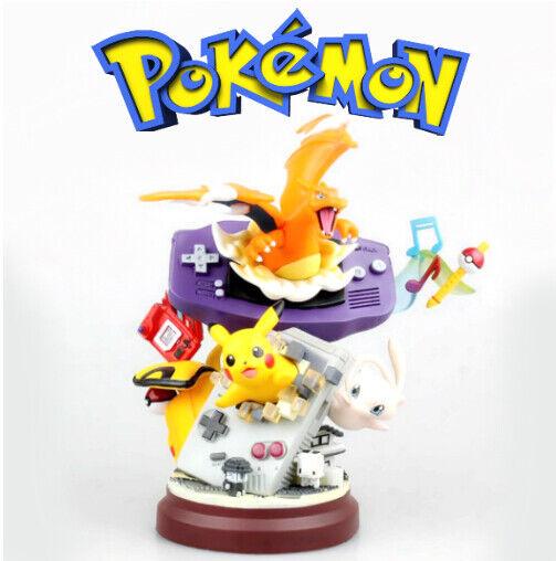 Pokemon Figura Pikachu Mew Charizard Figure Pokeflauta Anime Pokedex Gba In Box