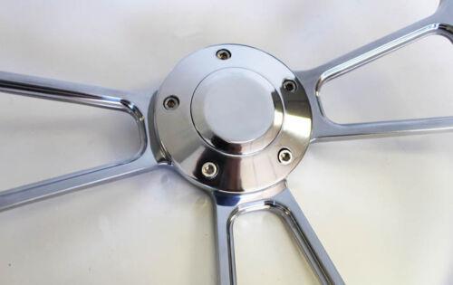 "Bronco F100 F250 F350 Torino Steering Wheel Blue Grip /& Billet 14/"" Shallow Dish"