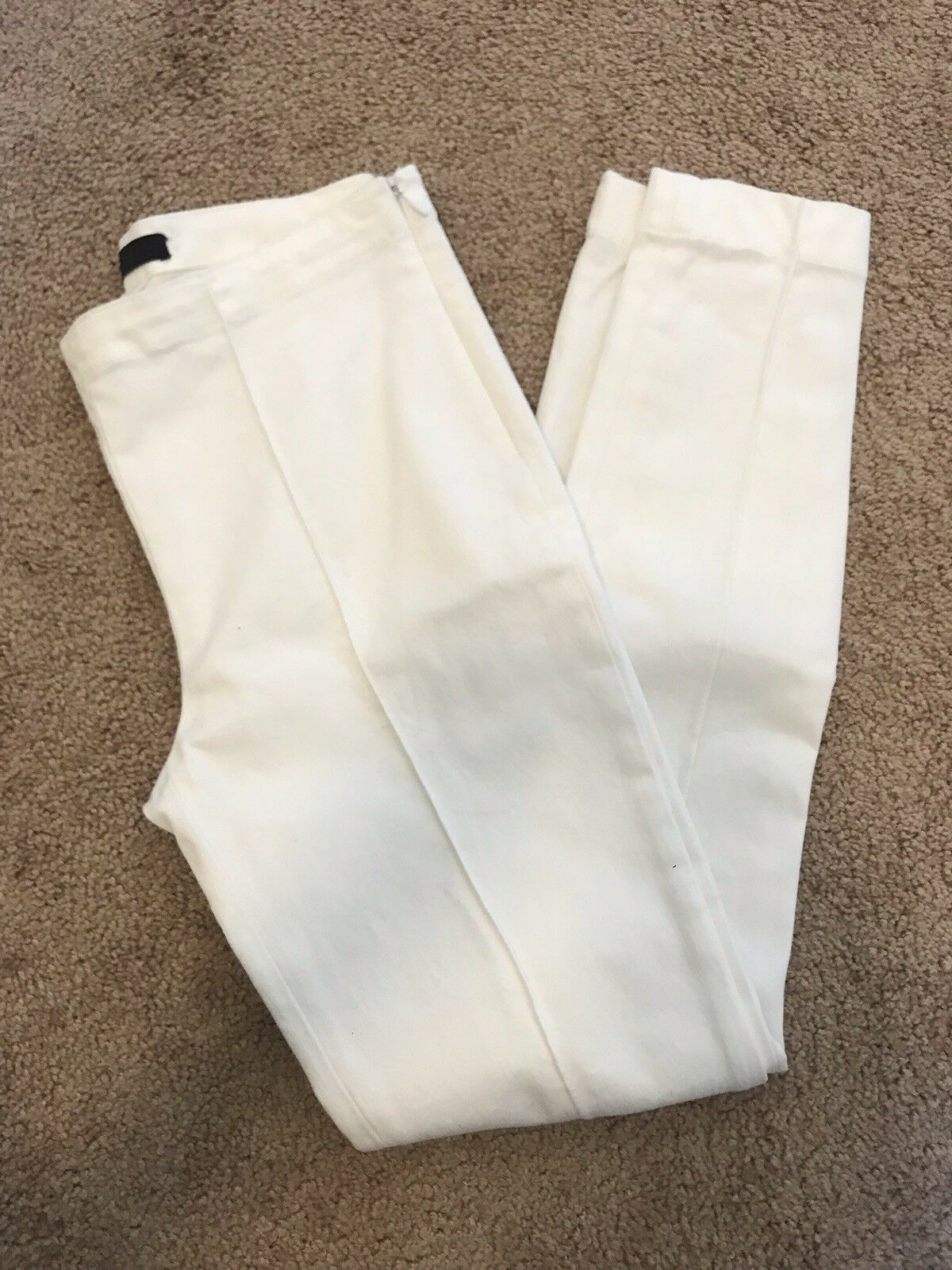 The Row Caro White Skinny Pants Size XS