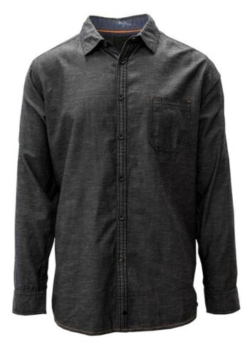 Salute By Level Wear Scottsdale Woven Shirt Charcoal
