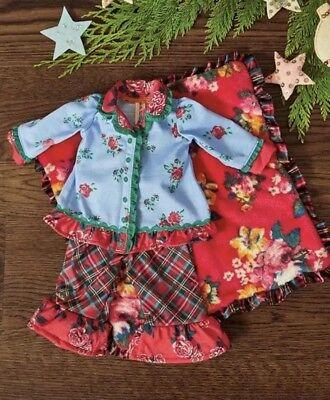 Matilda Jane Long Winters Nap PJ Set Pajama Girls Size 8 New In Bag Christmas
