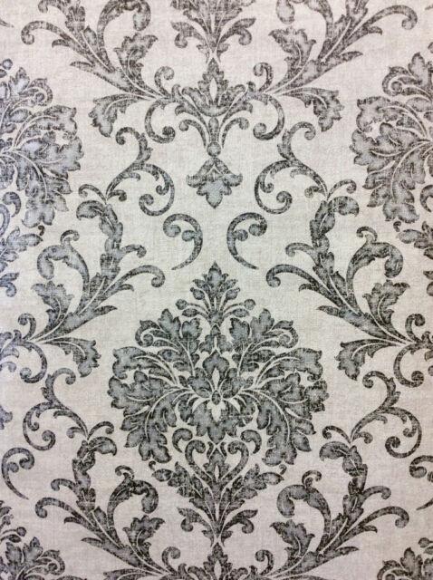 New Grand Deco Sevilla Black / Grey Damask Wallpaper