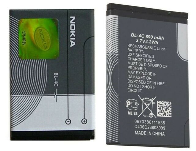 Original Nokia Batería BL-4C para Nokia 6230i/6300 Móvil Batería