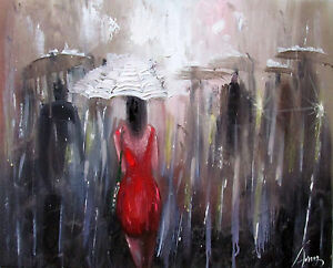100-Hand-painted-Oil-Painting-Figure-Girl-Landscape-art-16-20inch-Decoration