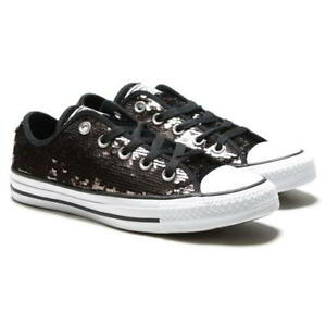 Converse CT All Star Ox linea Donna Rosa Scarpe Da Ginnastica in Tela ARGENTO Tg UK 4 8