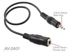 1 Pack Qvs 3.5mm Female To 2.5mm Male Mini-stereo//speaker Adaptor 1 X