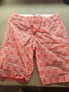 Womens-Shorts-size-12-Casual-Pink-Pattern-Old-Navy