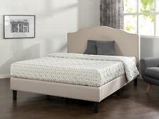 Zinus Paris Upholstered Scalloped Platform Bed Frame