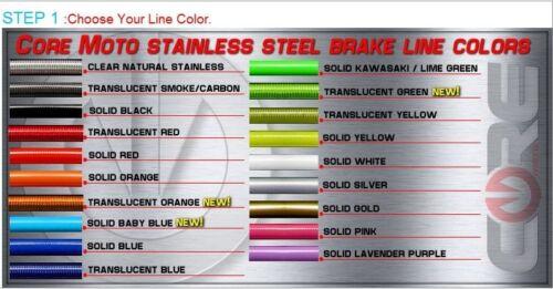 KAWASAKI ZX6R 2003-2004 REAR LINE CUSTOM STAINLESS BRAKE LINE KIT CORE