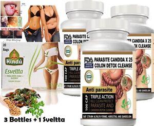 300-Parasite-Cleanse-DETOX-Liver-Colon-Yeast-Blood-KILL-COLON-CLEANSER-FAST-amp-TEA