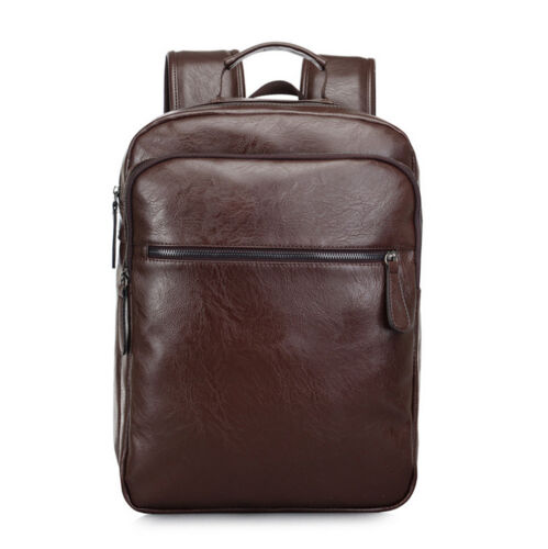 Mens Travel School Leather Backpack Satchel Laptop Bag Rucksack Shoulder Handbag