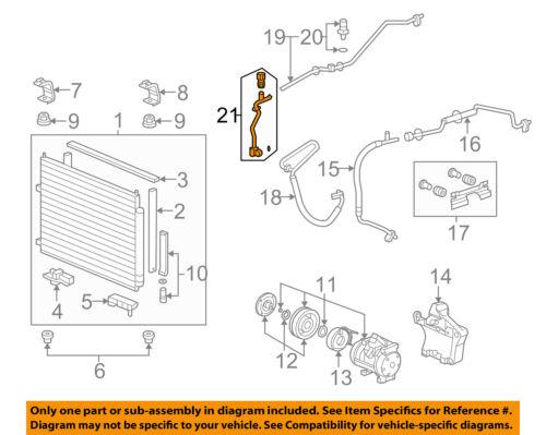 HONDA OEM Ridgeline A//C AC Condenser//Compressor//Line-Pressure Pipe 80342SJCA51