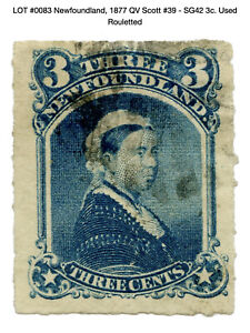 0083: Newfoundland, 1877 QV Scott #39 - SG42 3c. Used