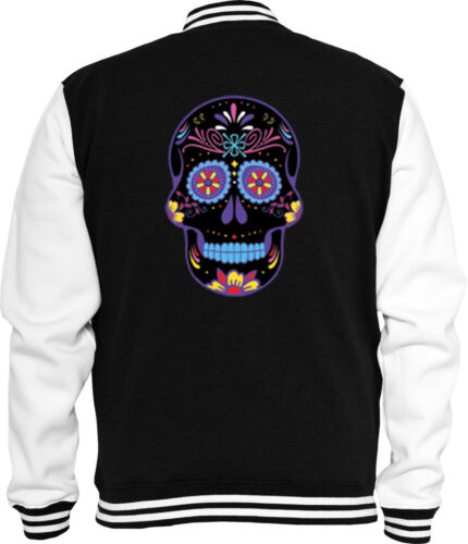 Mexican Sweat College chaqueta Neon Sugar Skull rockabilly Biker