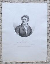 Lithographie XIXème - Portrait d'Antoine Ponchard - Opéra-Comique - Vigneron