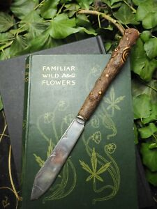 Upcycled Athame with Yew Wood Handle - Pagan, Wiccan, Ritual, Witchcraft