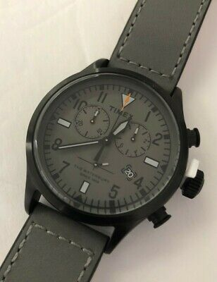 """Todd Snyder Red Wing Watch """"the Waterbury"""" Chronograph Gray Leather Responsible Timex"""