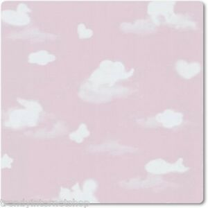 Tapete Kinderzimmer PS Happy Kids 05572-20 Wolken Tiere Herzen rosa ...