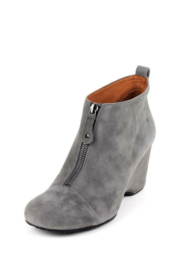 Gentle Souls 'Ridgual' grau Leather Ankle Stiefel Front Zipper Stiefelie