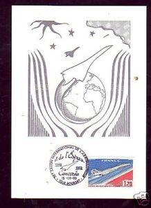 1357-CARTE-POSTALE-CONCORDE-SALON-AERONAUTIQUE-1989
