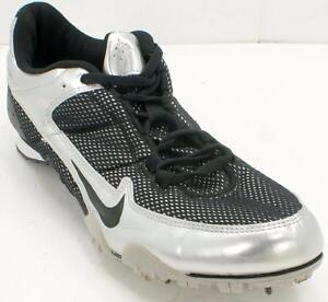 Nike Rival MD 2 Model# 309273 001 Men's Silver/Black Track Running Shoes Sz 10 M