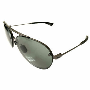 NEW-Under-Armour-Double-Down-Sunglasses-UA-Satin-Gunmetal-Aviator-Gray