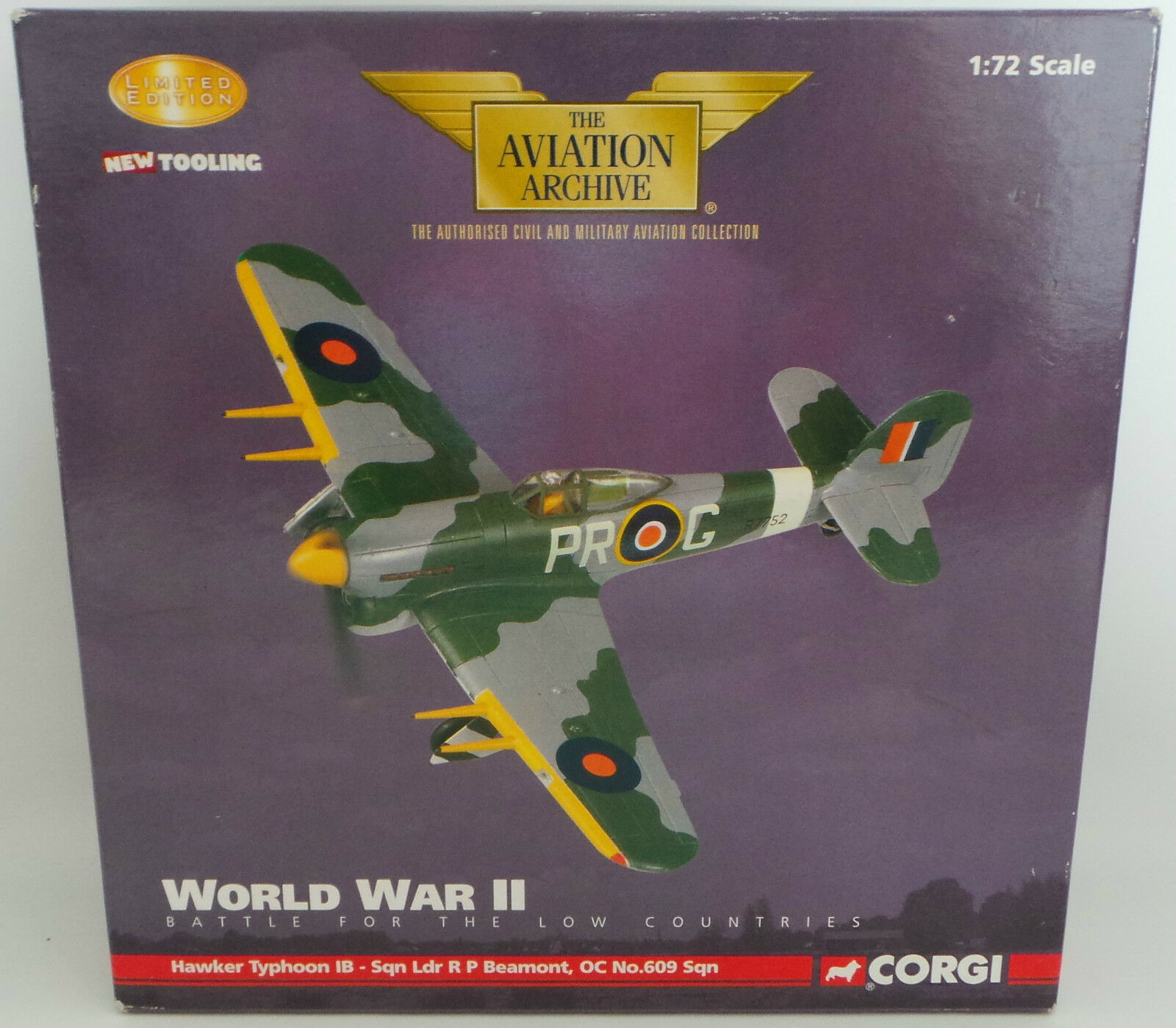 AVIATION   CORGI HAWKER TYPHOON 1B - SQN LDR R P BEAUMONT MADE IN 2006